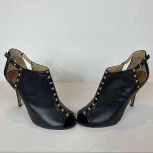 Women's Aldo Black Heeled Open Toe Shoe Size 8
